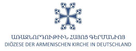 Armenische Kirche in Deutschland Logo